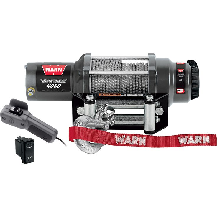 Warn Vantage 4000 Series 12 Volt ATV Winch — With Steel Wire, 4,000 Lb. Capacity | ATV Winches| Northern Tool + Equipment