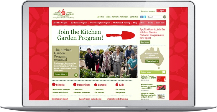 Online community and extensive resource centre, Stephanie Alexander kitchen Garden Foundation - the shared table