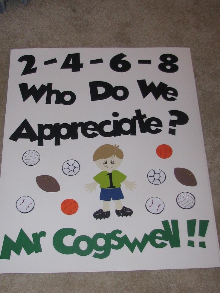 Gym teacher appreciation poster