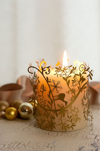 ❄☃ Seasons ❄☃❄ Winter Wonderland ☃❄ lovely uppercut wrapped christmas candle | by mellow_stuff