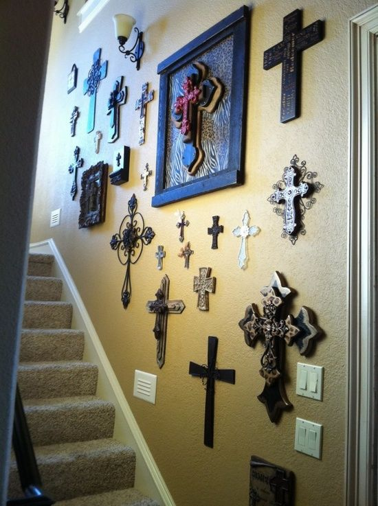 Top 25 ideas about cross wall collage on pinterest for Collage mural ideas