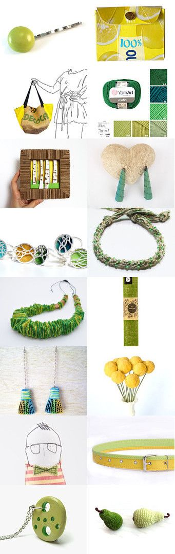Green and Yellow  by AngelaDesign on Etsy--Pinned+with+TreasuryPin.com