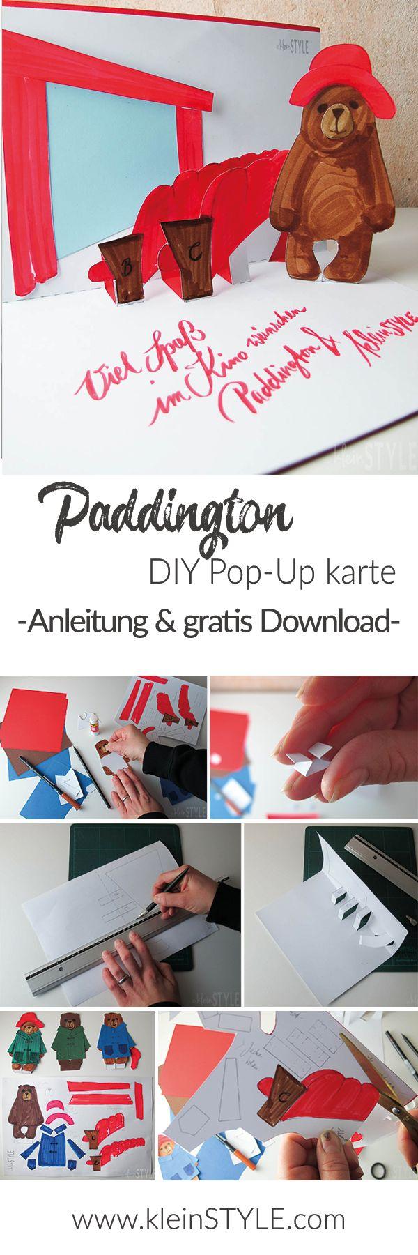 Bastel eine eigen Paddington Pop-Up Karte als Grußkarte, (Kino)Gutschein oder um selbst eine Überraschung im Cinemaxx zu erhalten! - mit gratis Download