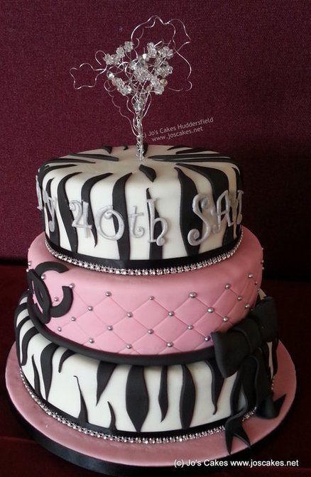 Pink and Black  Zebra  Cake