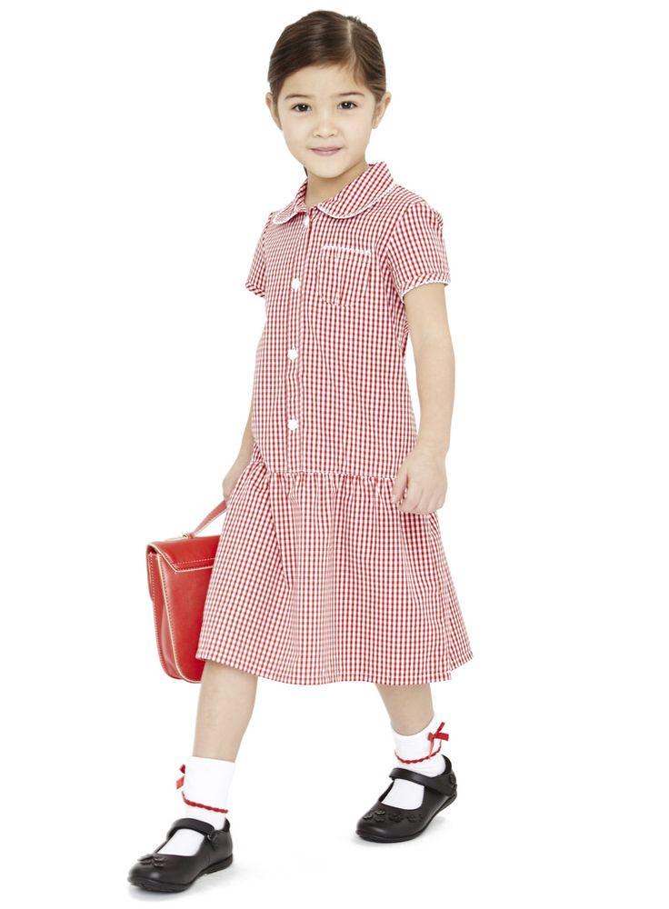 Girls School Uniform Dresses  Girls Red 2 Pack Great -5887