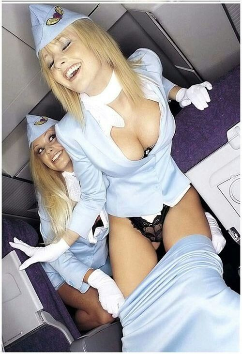 Asian stewardesses take new members for the mile high club 3