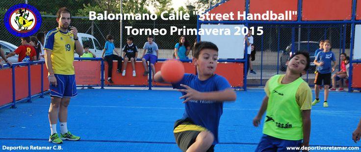 "Spain: Balonmano Calle ""Street Handball"" Torneo Primavera in Pedro Muñoz with Deportivo Retamar Handball Club. Do not hesitate to send your Street Handball Event pictures from your Street Court. See more www.streethandball.com"