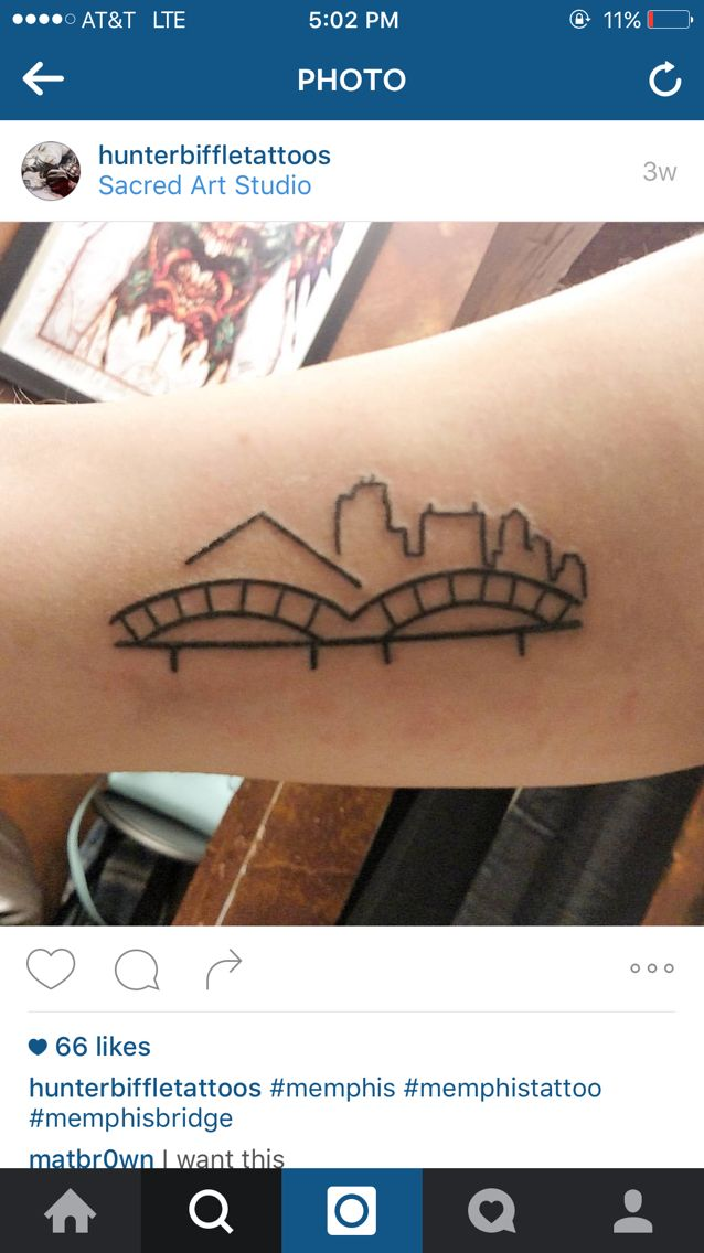 Memphis skyline tattoo
