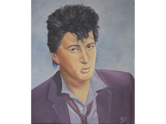 Portrait à l'huile Alain Bashung