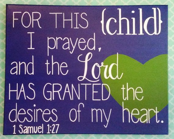 11x14 Home Decor Wall Hanging For This Child I Prayed 1 Samuel 1:27 by AnchoredCreations2