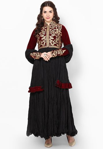 Rohit Bal For Jabong-Maroon Suit Set