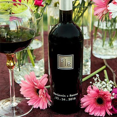 Transitional Monogram Etched Wine - Celebration Cellars' Monogram Collection offers you a perfectly contemporary way to personalize your etched wines with style. Flip thru them all. Find the one that best suits you. These designs are fresh, modern, stylish and sure to make an impression.