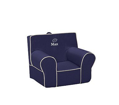 Navy with Stone Piping Anywhere Chair #pbkids