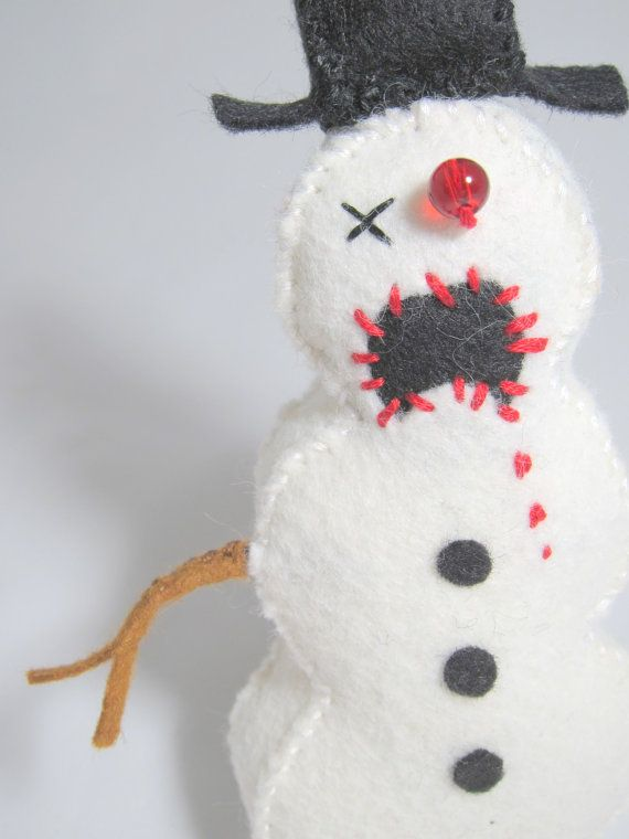 Zombie Christmas Ornament Collection by MyZombieFriends on Etsy, $32.50