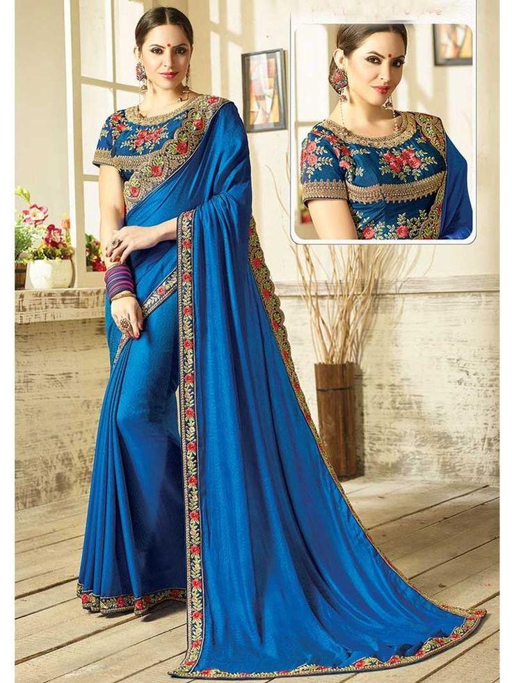 ethnic Indian Bollywood Designer Party Wear New Style Women Bridal Sari Blouse #Handmade #SariSaree