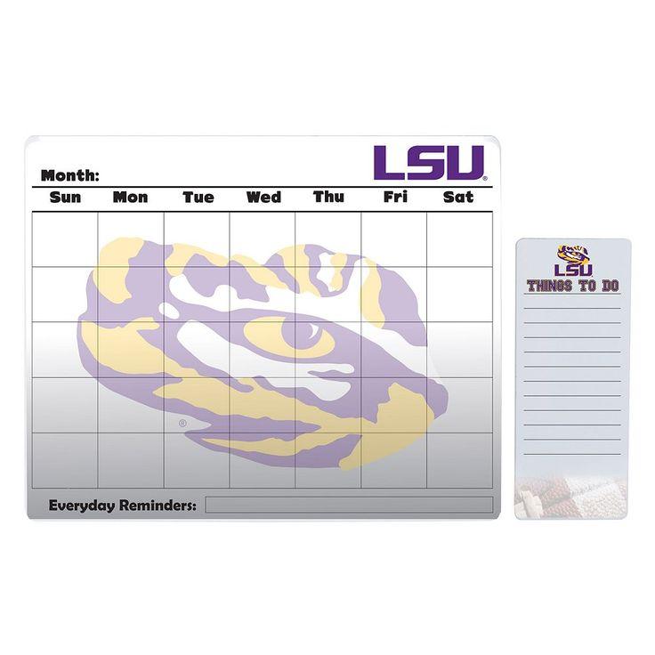 LSU Tigers Dry Erase Calendar & To-Do List Pad Set, Multicolor