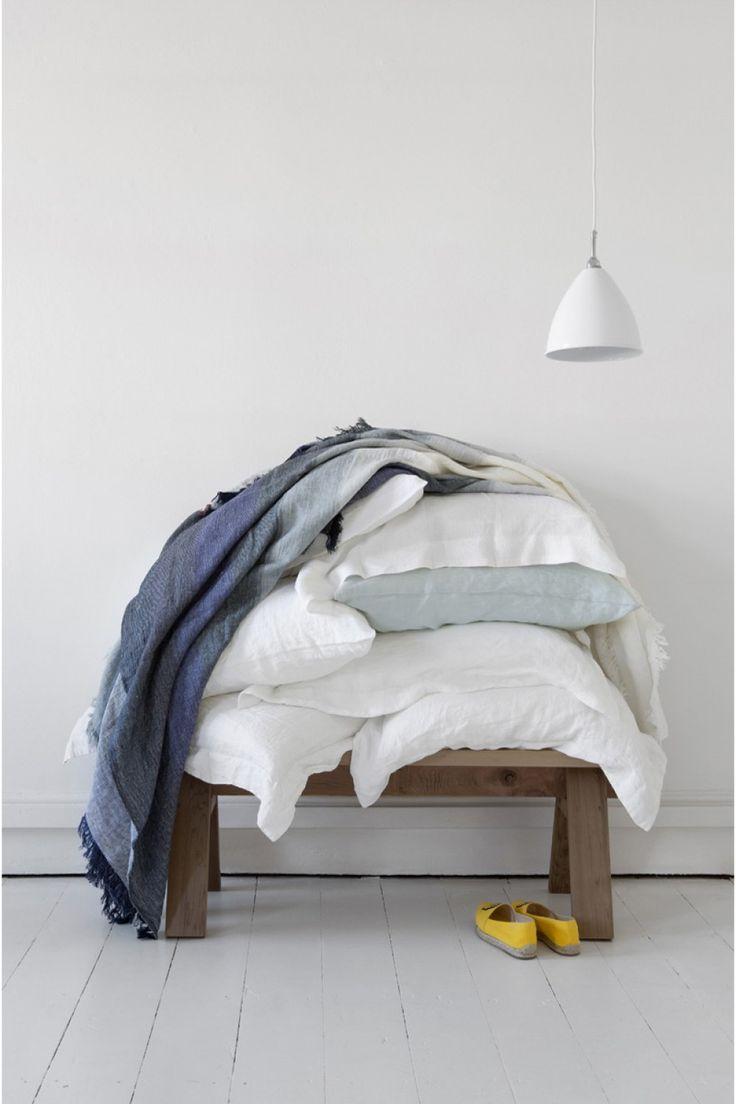 Reversible Linen Throw Blanket