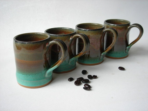 Handmade Espresso Cups Demitasse Set Of 4 Ceramics