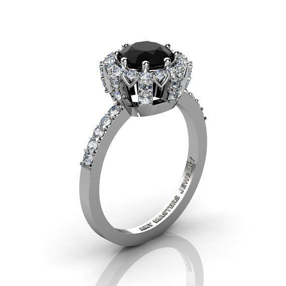 Classic Bridal 14K White Gold 1.0 Ct Onyx Diamond by artmasters, $1849.00