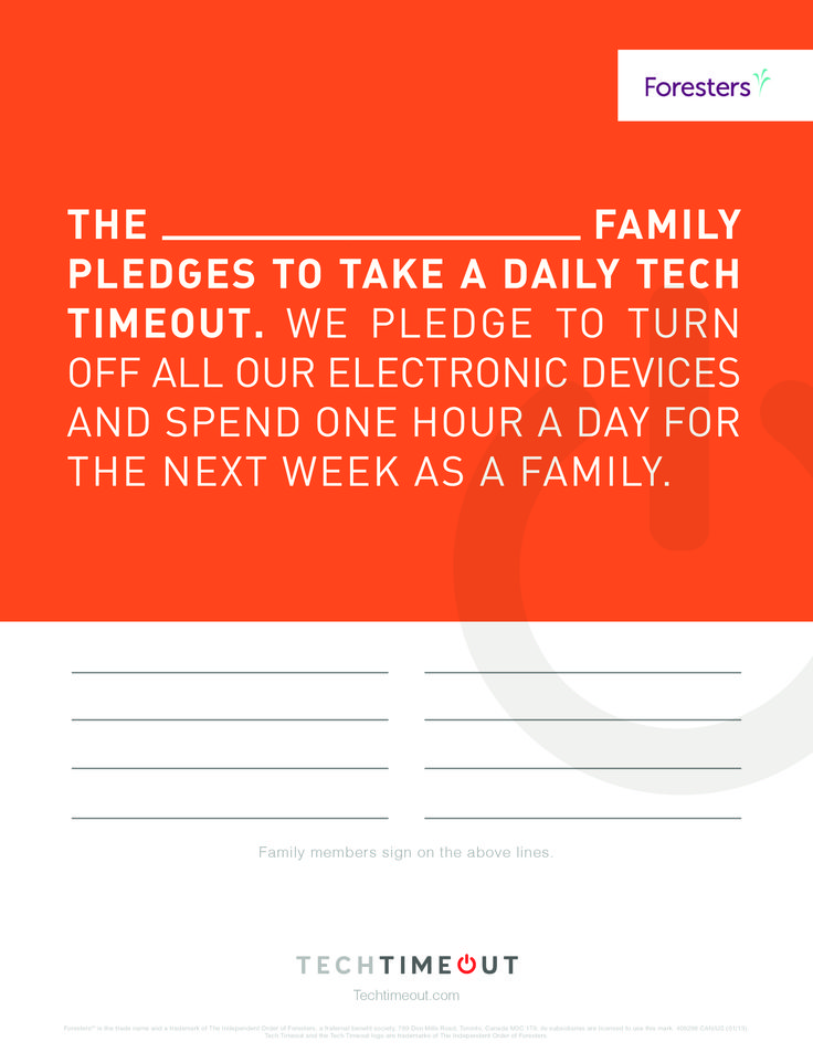 Pledge to take a Tech Timeout with your family. #family #techtimeout