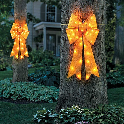 Lighted Yellow Ribbon & Bow
