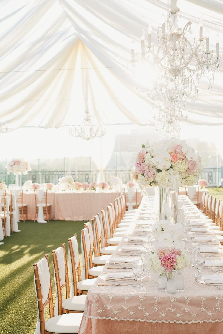 pink and gold wedding #tents, #draping  Photography: onelove photography - onelove-photo.com  Read More: http://www.stylemepretty.com/california-weddings/2014/05/15/pink-and-gold-wedding-at-the-london-west-hollywood/