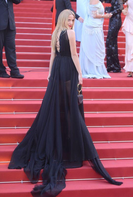 Jessica Mercedes w sukni Łukasz Jemioł na Festiwalu Filmowym w Cannes 2017
