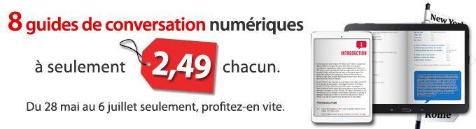 #PromoUlysse sur les guides de conversation numériques. Du 28 mai au 6 juillet 2015.