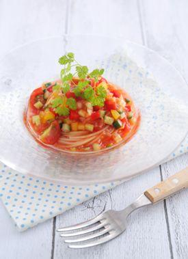 手際よく作るコツもご紹介色鮮やかな夏野菜を使った冷製パスタレシピ集