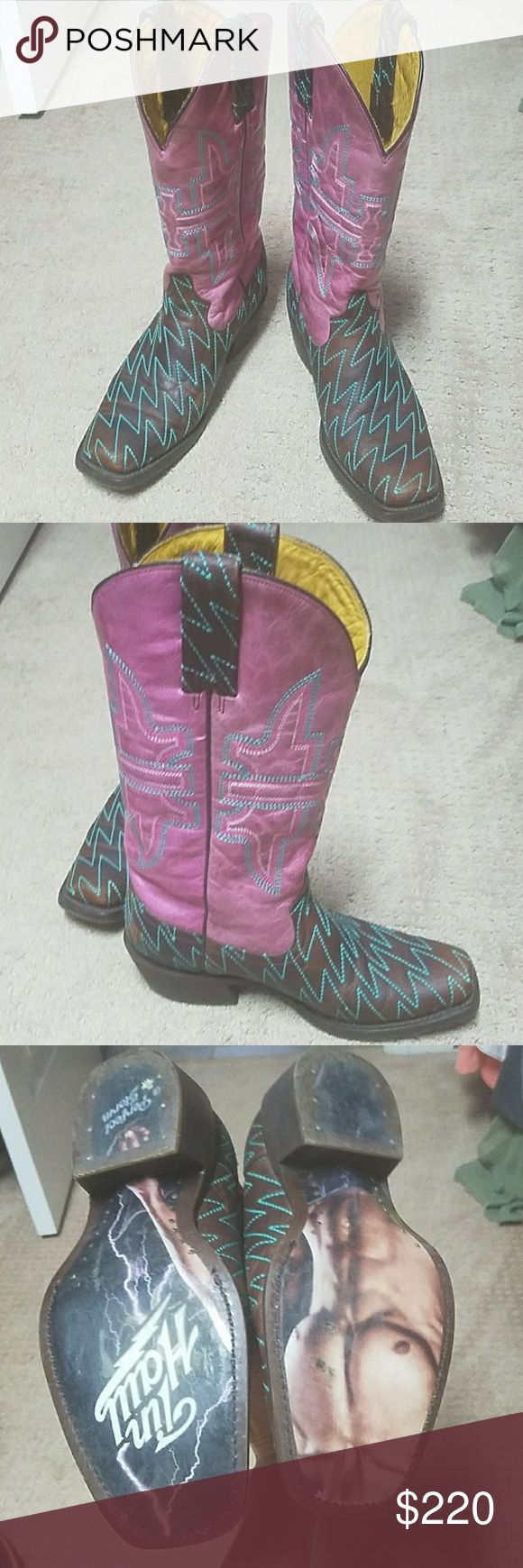 Tin Haul boots In great shape barely worn tin haul Shoes Combat & Moto Boots