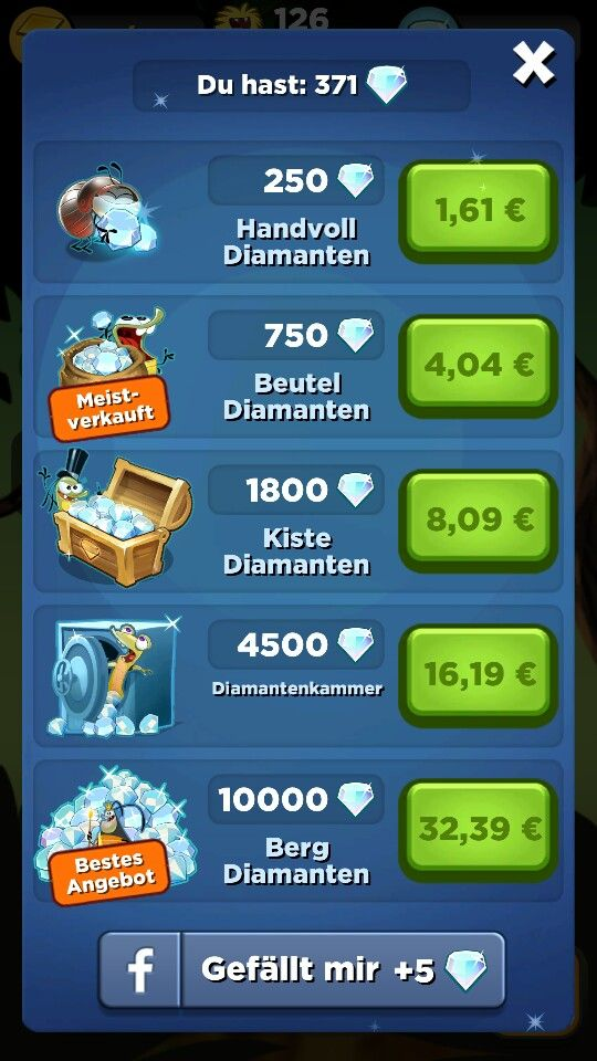 Best fiends, shop