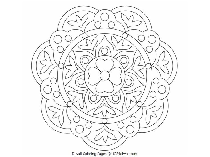 Diwali Colouring Patterns Best Ideas About Rangoli On Designs