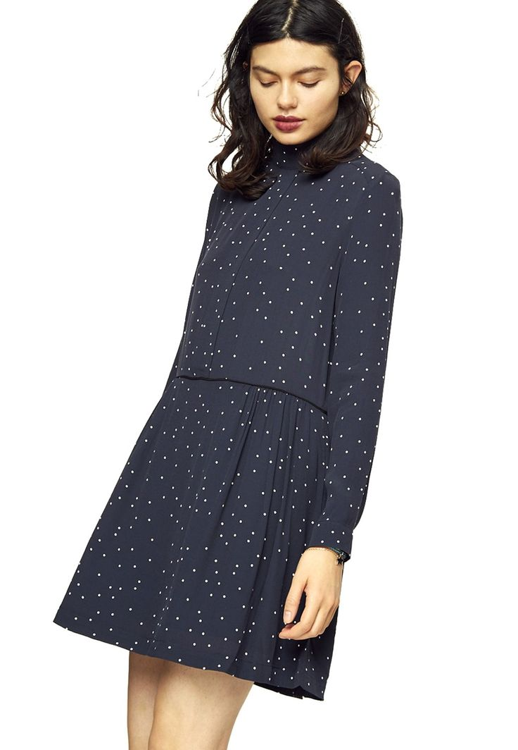 Ganni Rosemont Crepe Dress Blå | Ted & Teresa