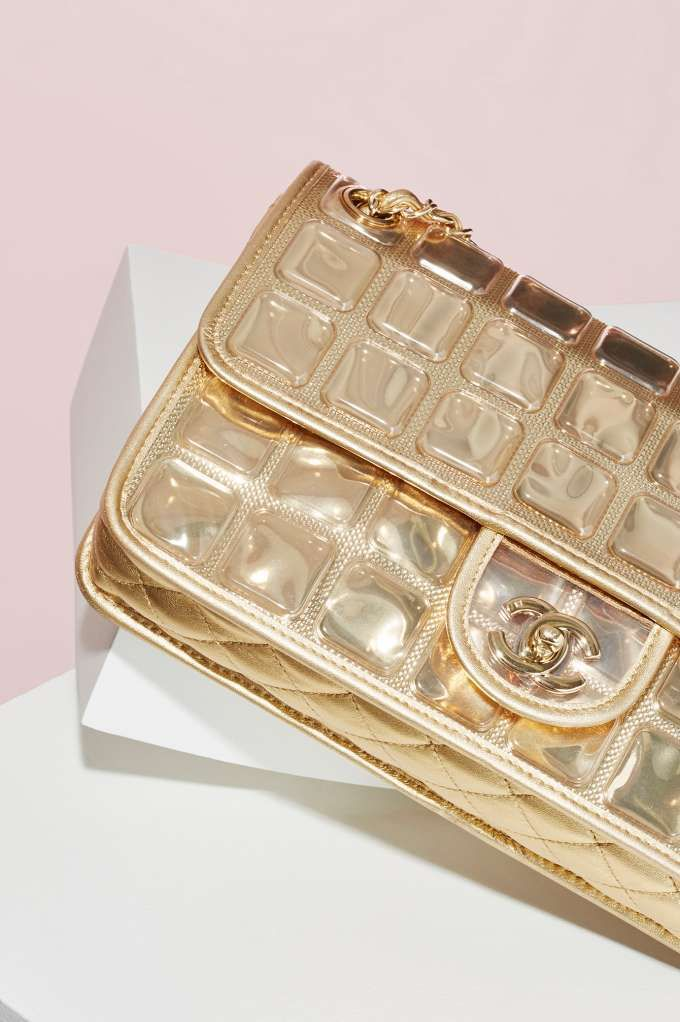 Vintage Chanel Ice Cube Gold Leather Bag - Accessories   Chanel   Vintage Chanel Bags   Vintage Chanel All