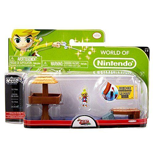 Nintendo – JAKKNIN028WOT – World of Nintendo Micro Land Zelda Playset – Water Ocean avec Tetra Figure: Recréer vos niveaux de jeux vidéo…