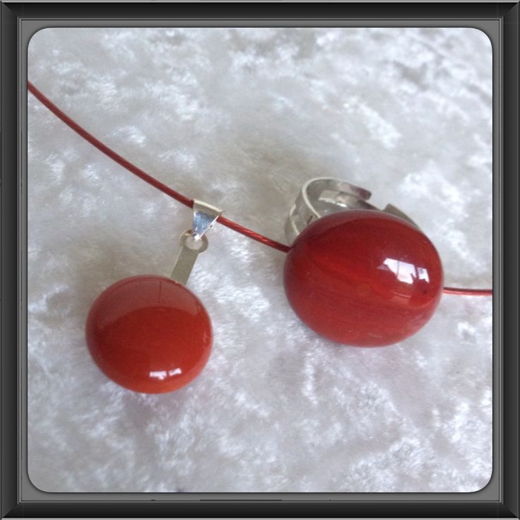 #Red #Jewellery #glasfusing #ring #Lis1