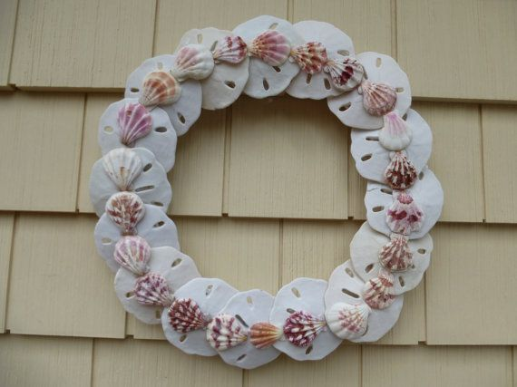 sand dollar craft ideas wreath sand dollar and pink shell shell wreath by 5361