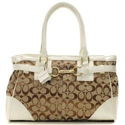 Coach Legacy In Signature Medium White Satchels AAT