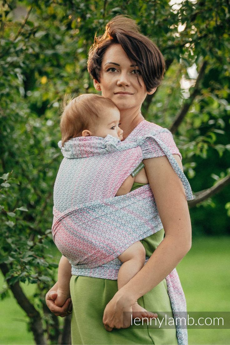 WRAP-TAI CARRIER TODDLER WITH HOOD/ JACQUARD TWILL / 60% COTTON, 28% MERINO WOOL, 8% SILK, 4% CASHMERE/ LITTLE LOVE - ROSE GARDEN