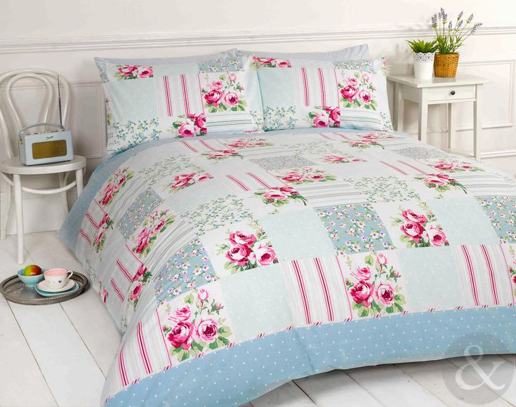 Details About Shabby Chic Patchwork Duvet Cover Floral