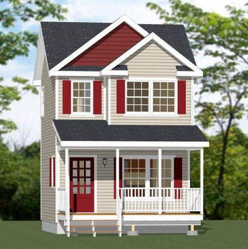 16x16 Tiny House 466 Sq Ft Pdf Floor Plan Shed