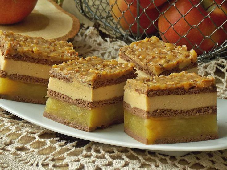 Ciasto z jabłkami i budyniem kajmakowym przełożone kakaowymi herbatnikami, więc nie wymaga pieczenia. Proste i zarazem bardzo smaczne ciasto, szczególnie dla tych co kochają szarlotki i wszelkiego …
