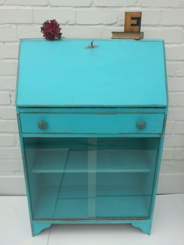 vintage autentico upcycled turquoise shabby chic student 39 s bureau writing desk i love bureau 39 s. Black Bedroom Furniture Sets. Home Design Ideas