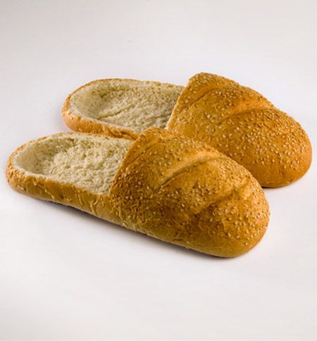 Bread Shoes by R PraspaliauskasLoafers, Breads Slippers, Food, French Loaf, Funny, Fathers Day, White Elephant, Breads Shoes, Christmas Gift