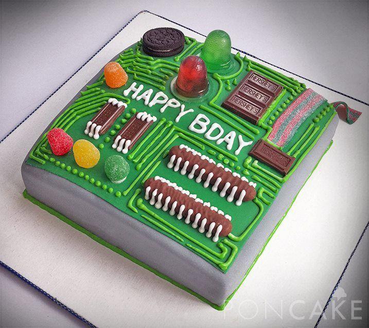 poncake circuit board cake | Circuit Cake - Torta de Circuito