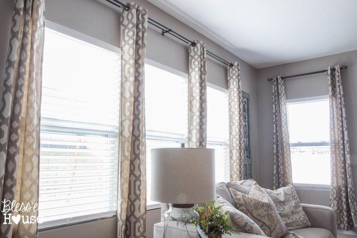 DIY Craftsman Window Trim in the Living Room