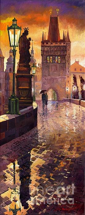 Prague Charles Bridge 01 Painting by Yuriy Shevchuk