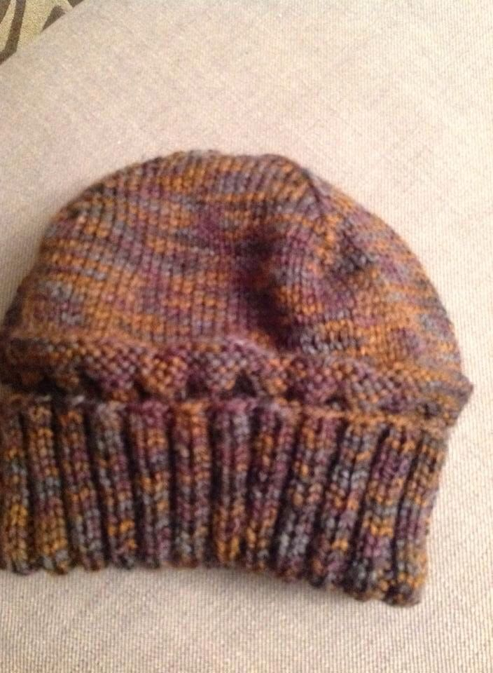 Gents hat knitted  using Caron simply soft