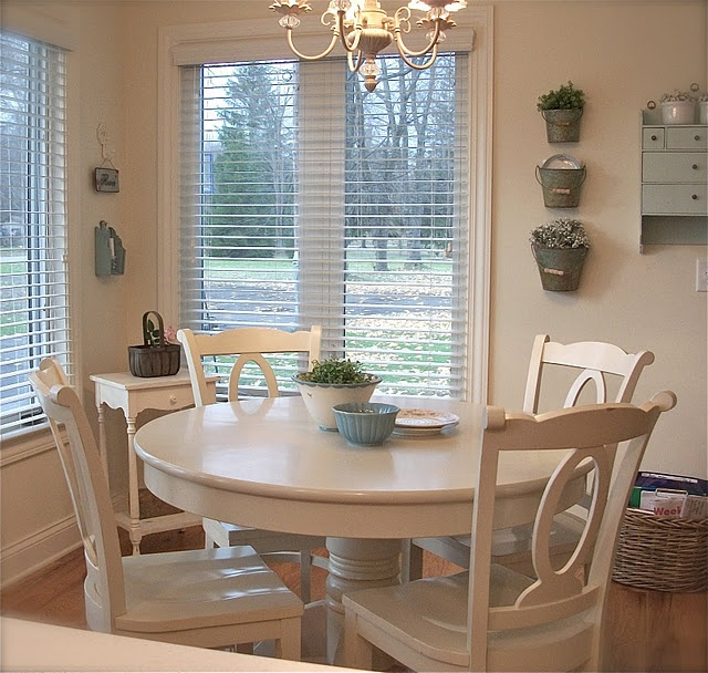 Painted Family Kitchen With Dining Nook: Painted Kitchen Table (crate & Barrel)