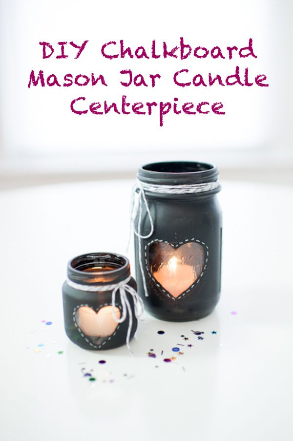 A fun DIY using chalkboard paint and mason jars to create a unique rustic centerpiece for weddings, home decor, and other special events.